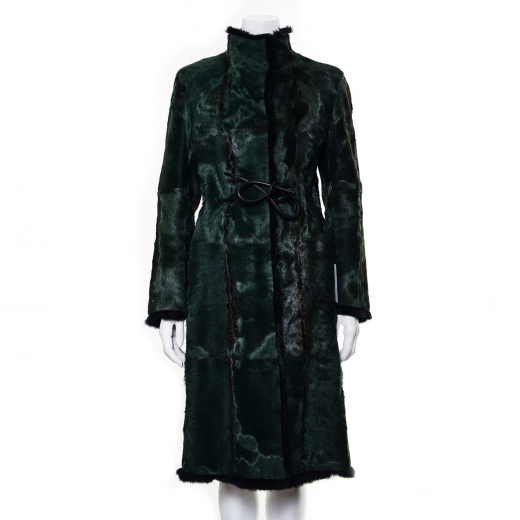 Reversible Emerald Green Fur Coat