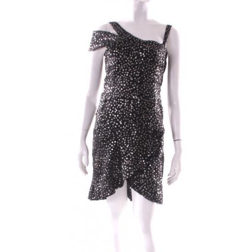 Isabel Marant sukienka czarna z cekinami
