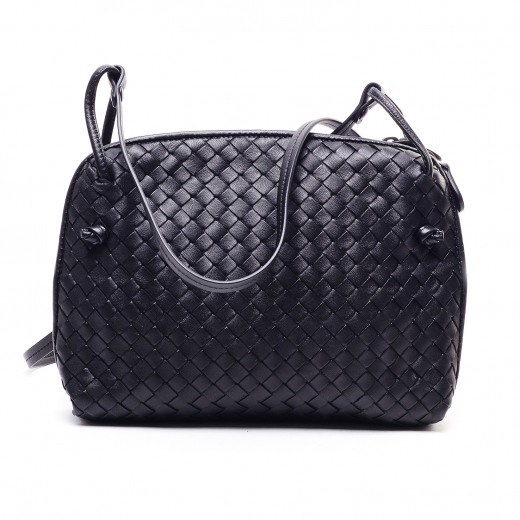 Messenger small intrecciato leather shoulder bag