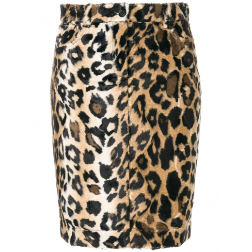 JEREMY SCOTT leopard pattern fitted skirt