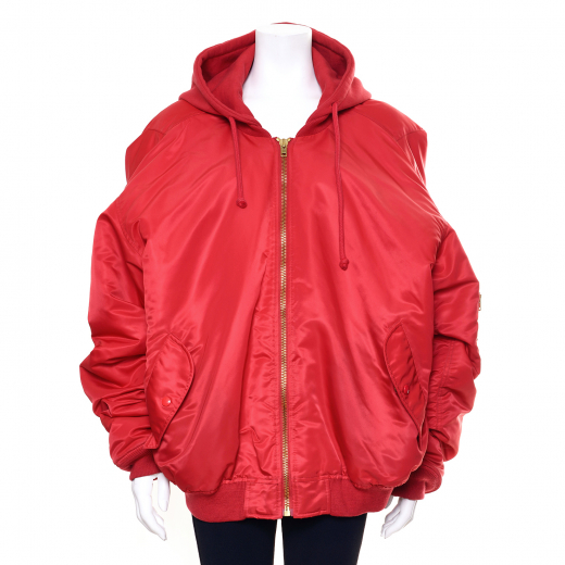 Vêtements Red Hooded Bomber Jacket