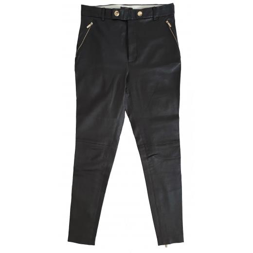 Coach spodnie ze skóry naturalnej, czarne 36/38