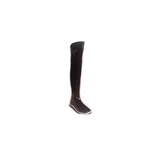 Kozaki ze skóry lakierowanej za kolano