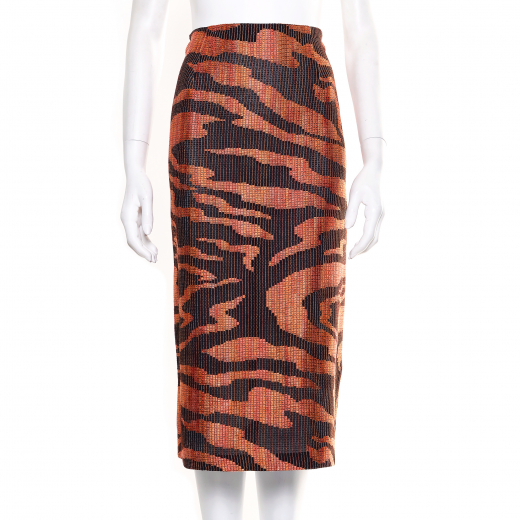 Missoni. Zebra-patterned tweed pencil skirt
