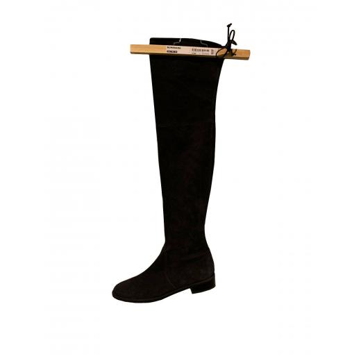 Piękne kozaki - Stuart Weitzman r 39 - model -Lowland Stretch Suede Boots Black