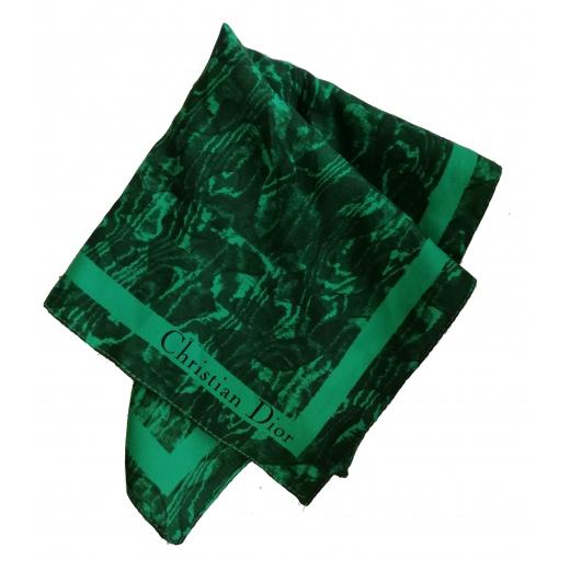 Butelkowo zielona apaszka Poison Christian Dior