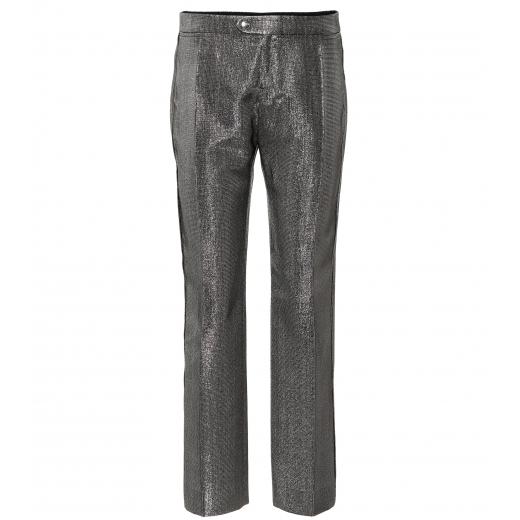 CHLOE Metallic straight-leg pants nowe