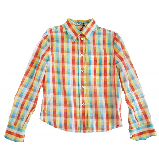 Miu Miu koszula batyst bawełniany, nowa 40IT 34-36