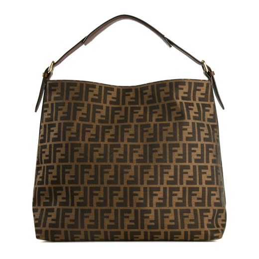 Fendi torebka Large Zucca Canvas Hobo Bag