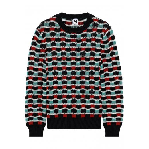 M MISSONI sweter bawełna-wełna nowy S-M