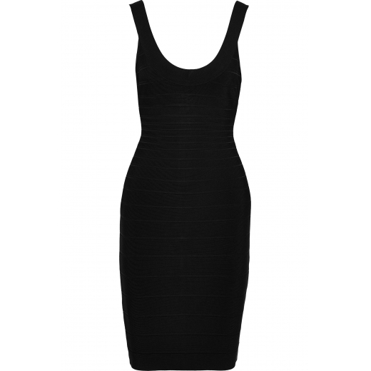 Herve Leger sukienka Black Sidney Bandage