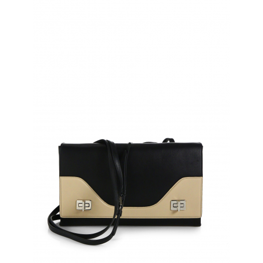 Prada Black Vitello Soft Double Shoulder Bag, nowa