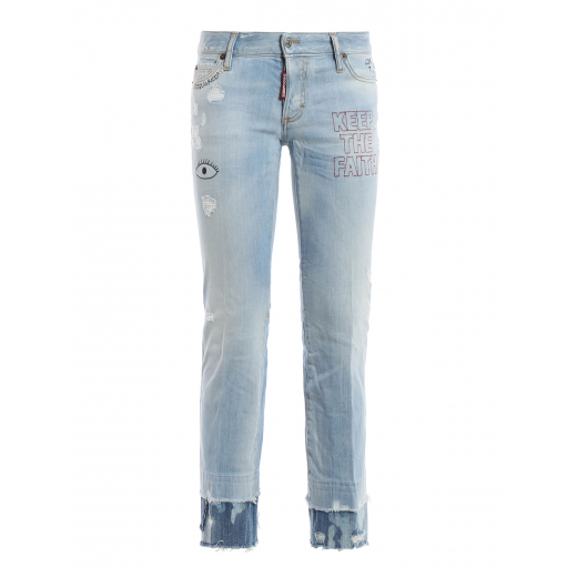 DSQUARED2 spodnie Embroidered flare jeans 40ITALY