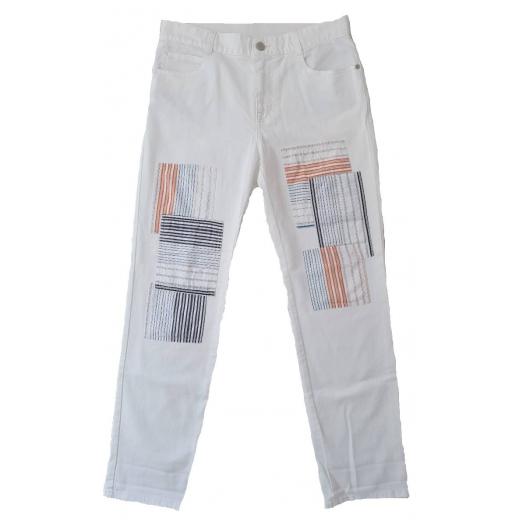 Stella McCartney Spodnie Patchwork Cropped nowe 27