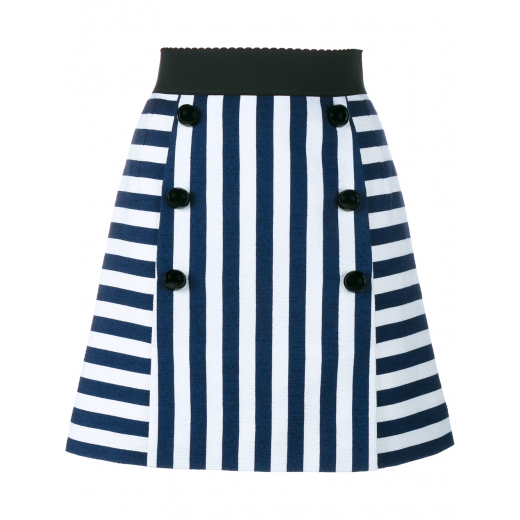 Dolce & Gabbana Striped embossed skirt. 38