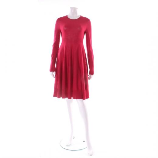 Alexander Mcqueen Sukienka czerwona