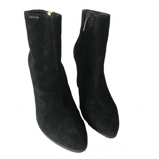 Czarne zamszowe botki Calvin Klein rozmiar 39