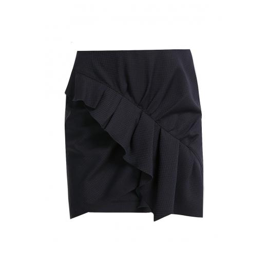 ISABEL MARANT ETOILE Nel Ruffled Wool Mini Skirt