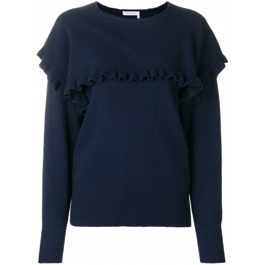 See By Chloé Blue Flouncy Alpaca Sweater S-M