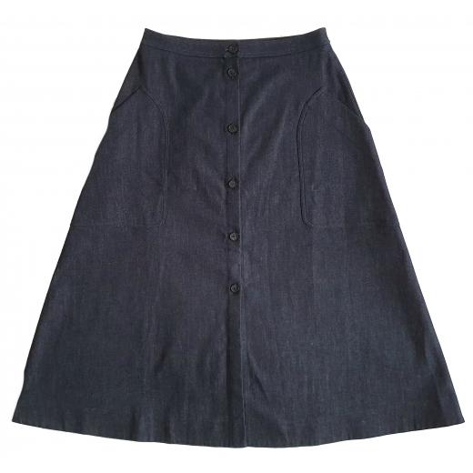 Jil Sander Navy spódnica Blue Denim Skirt XS-S
