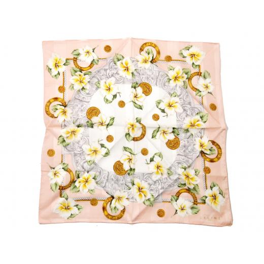 Chusta Celine w kwiaty łańcuchy abstrakcja