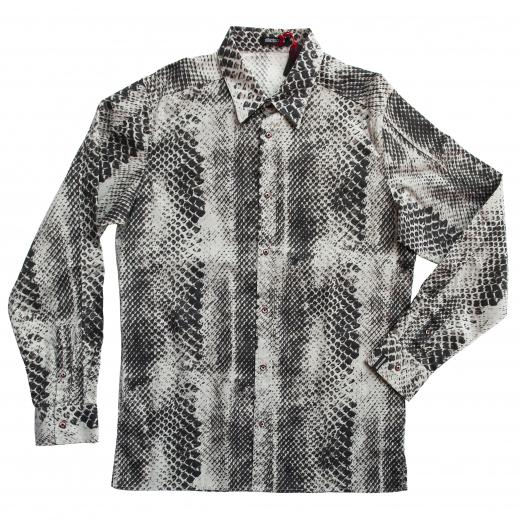 Koszula we wzór pytona.