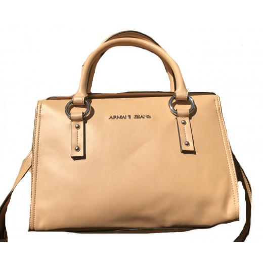 Beżowa torba kuferek Armani