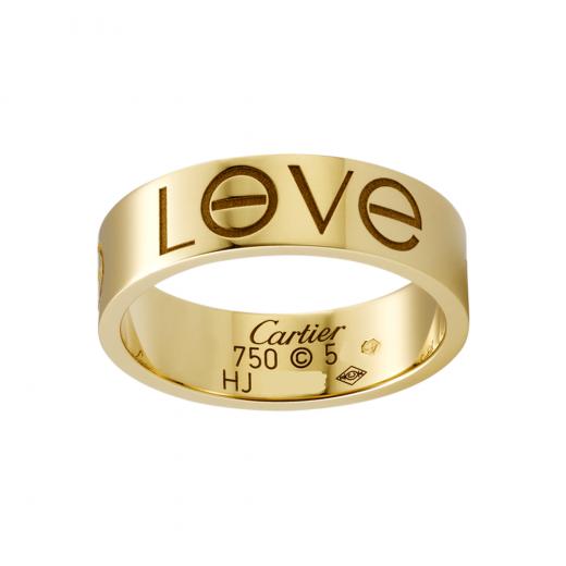 Cartier złoty pirścionek, obrączka LOVE używany 53