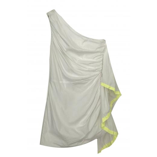 MSGM drapowana mini sukienka na jedno ramię XS