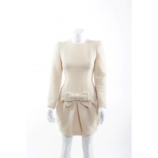 Bizuu sukienka wełniana beżowa