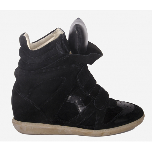 Isabel Marant czarne sneakersy Bekett