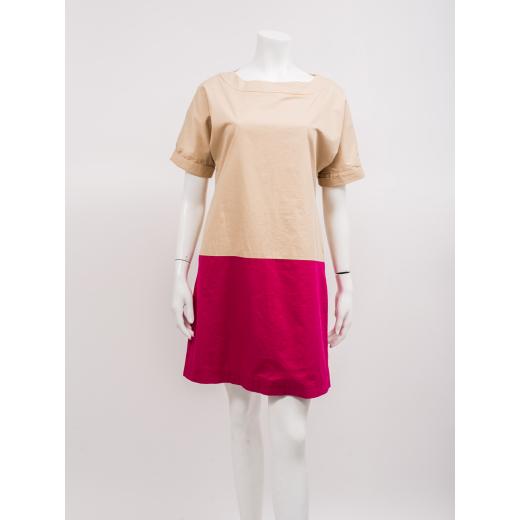 Marni sukienka beżowo-różowa