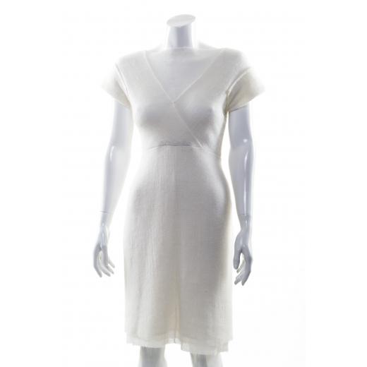 Dawid Woliński sukienka z wełny biała