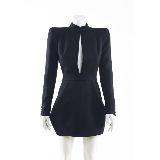 Balmain sukienka czarna