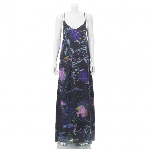 Sukienka długa w motyw kwiatowy
