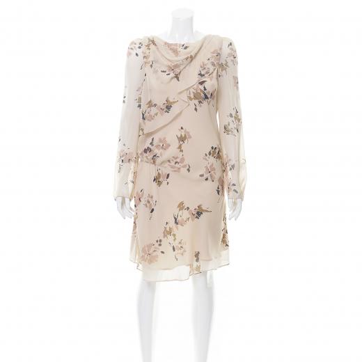 Sukienka beżowa jedwabna