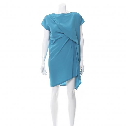 Bohoboco sukienka niebieska jedwabna
