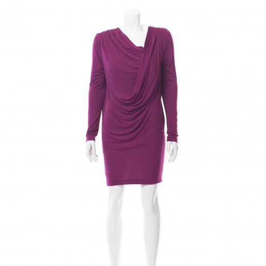 Bohoboco sukienka wełniana fioletowa