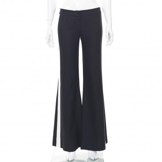 Spodnie czarne z białymi lampasami
