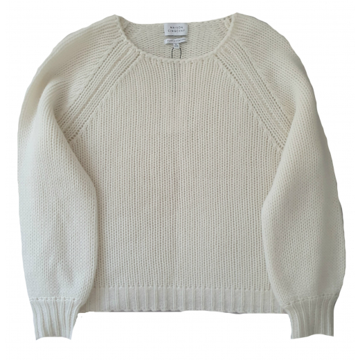 Maison Cinqcent sweter ecru, 100% kaszmir nowy