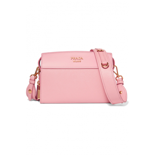 Prada torebka skóra saffiano, różowa, nowa