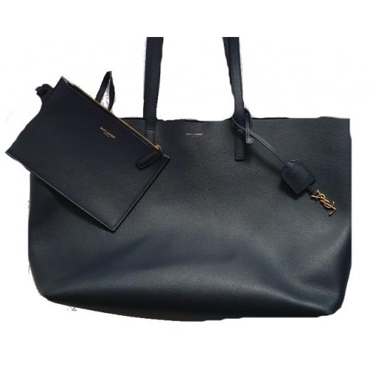 Saint Laurent Navy Large Shopping Bag