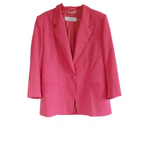 Max Mara Wool Pink Oversized Blazer