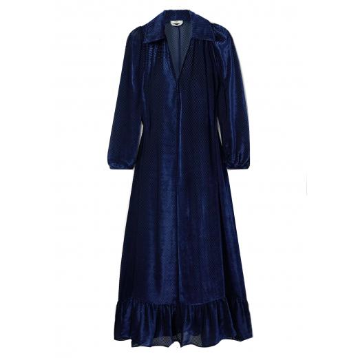 FENDI Ruffled devoré-velvet midi dress XS-M