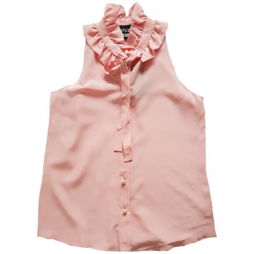 Boutique Moschino bluzka jedwabna nowa róż 36