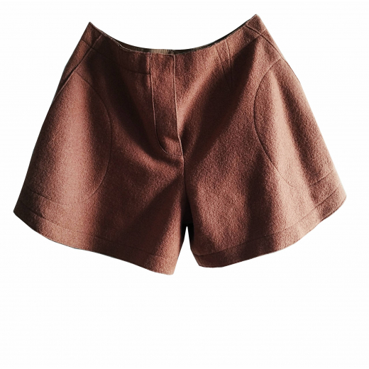 Carven crashed wool shorts