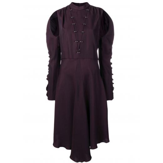 Chloe Purple Loose Flared Dress