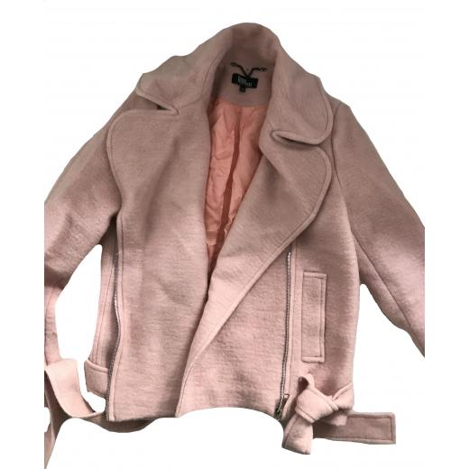 Krótka kurtka w stylu motocyklowym