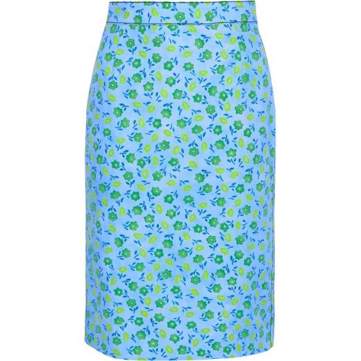 Prada spódnica Floral denim pencil 40IT 34-36