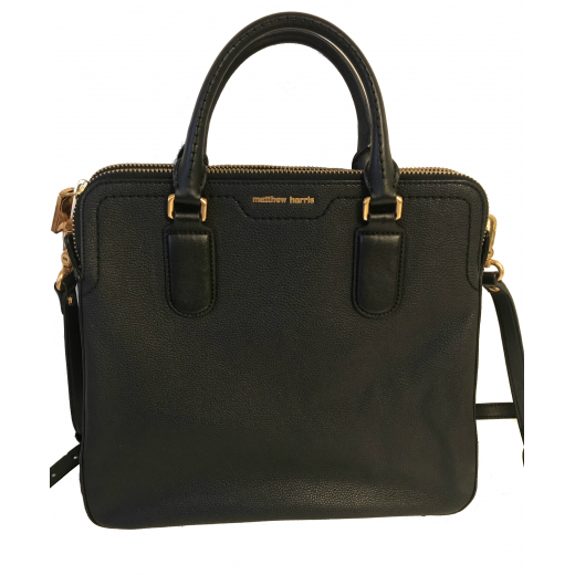 czarna skórzana torba matthew harris